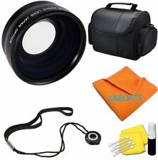 58MM WIDE ANGLE LENS + CARRYING BAG CASE BAG FOR CANON EOS REBEL T1I T2I T3