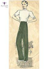 Vintage 40/'s Pants Trousers Slacks sewing pattern WW2 New York w26