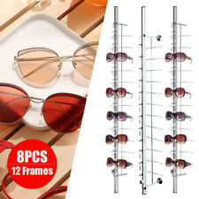 8 Pcs Glasses Eyeglasses Display Sunglasses Organizer Rack 1214 Frames Lockable