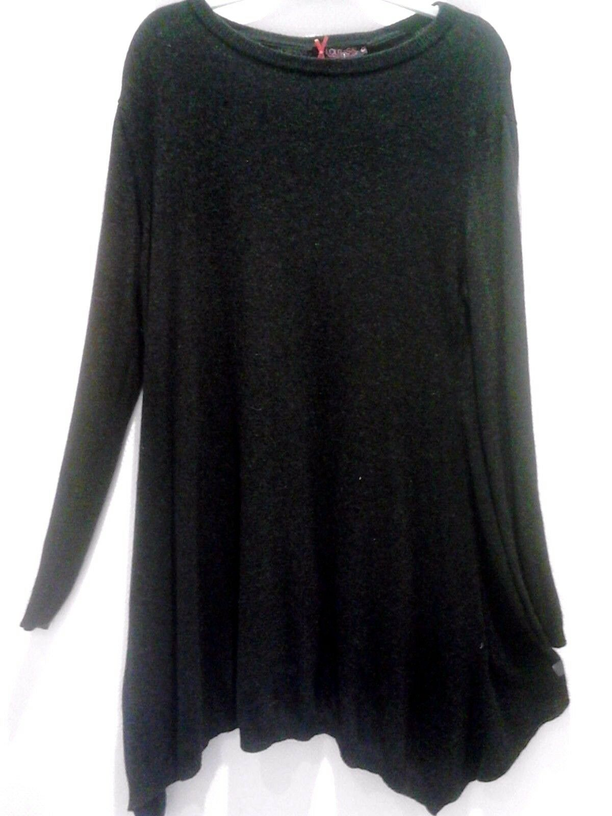 Pull LONG Tunique lolita schwarz ou écru