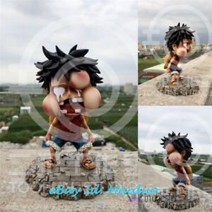 Details About One Piece Monkey D Luffy Kid Figurine Swollen Face Gk Statue Anime Collections