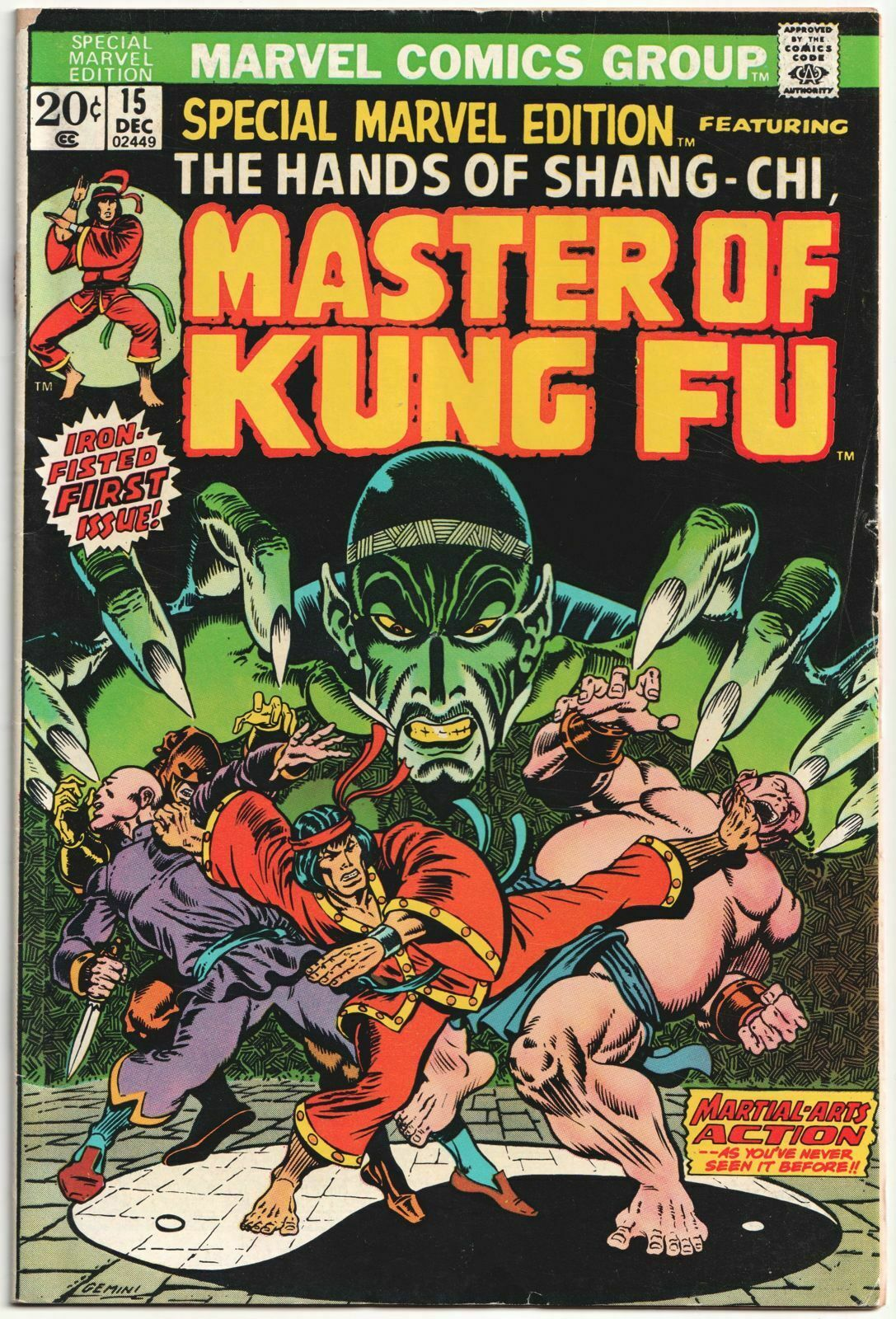 Image 1 - MARVEL SPECIAL EDITION #15 1ST APP SHANG CHI MASTER KUNG FU 1973 MOVIE COMICS