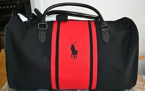 39d7c3a0c7 RALPH LAUREN PARFUMS POLO BLACK   RED HOLDALL   WEEKEND   TRAVEL BAG ...