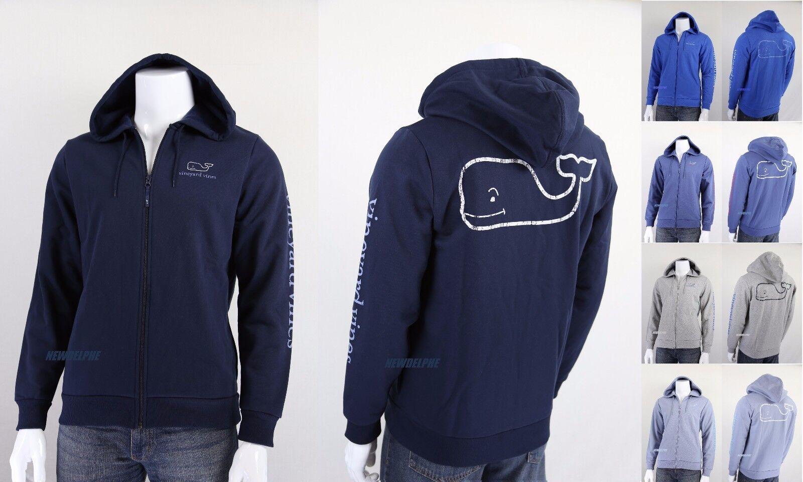 NWT Vineyard Vines Men Full Zip Graphic Big Whale Hoodie MSRP 125.00