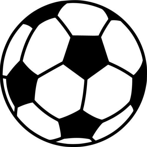 Soccer Ball Vinyl Sticker Decal Sports Choose Size /& Color