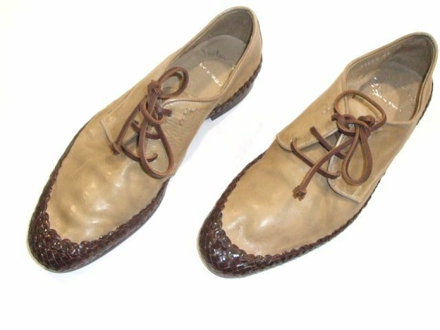 NEW SANTONI Dress Leather schuhe Größe Eu 42 Uk Uk Uk 8 Us 9 Made in  (O 95) ea5565