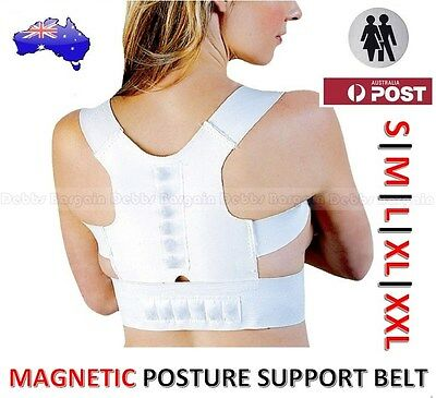 MAGNETIC BACK POSTURE SUPPORT BELT BRACE-EASE BACK PAIN & IMPROVE POSTURE-UNISEX