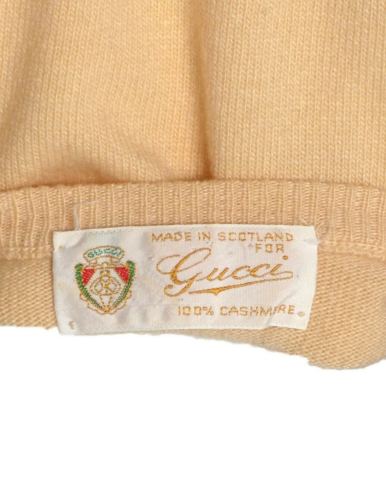 GUCCI-1970s Cashmere Sweater, Size-8 - image 5