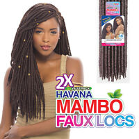 Janet Collection Synthetic Crochet Braiding Hair Havana Mambo Faux Locs 18