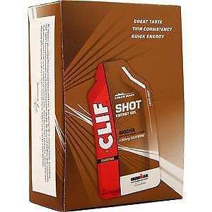 -BOX OF 24 CLIF SHOT GEL--Mocha with Caffeine