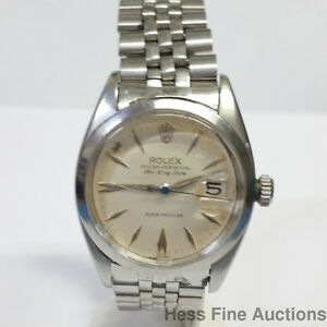 Details About Scarce Rolex Air King Date Arrow Dial 5700 Super Precision 1530 Watch