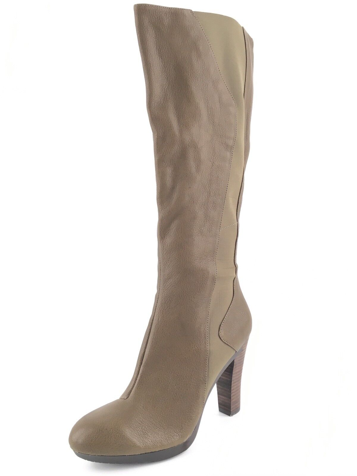 New Tsubo Tarian Olive Leather Knee High Boots Womens Size 10 M $310*