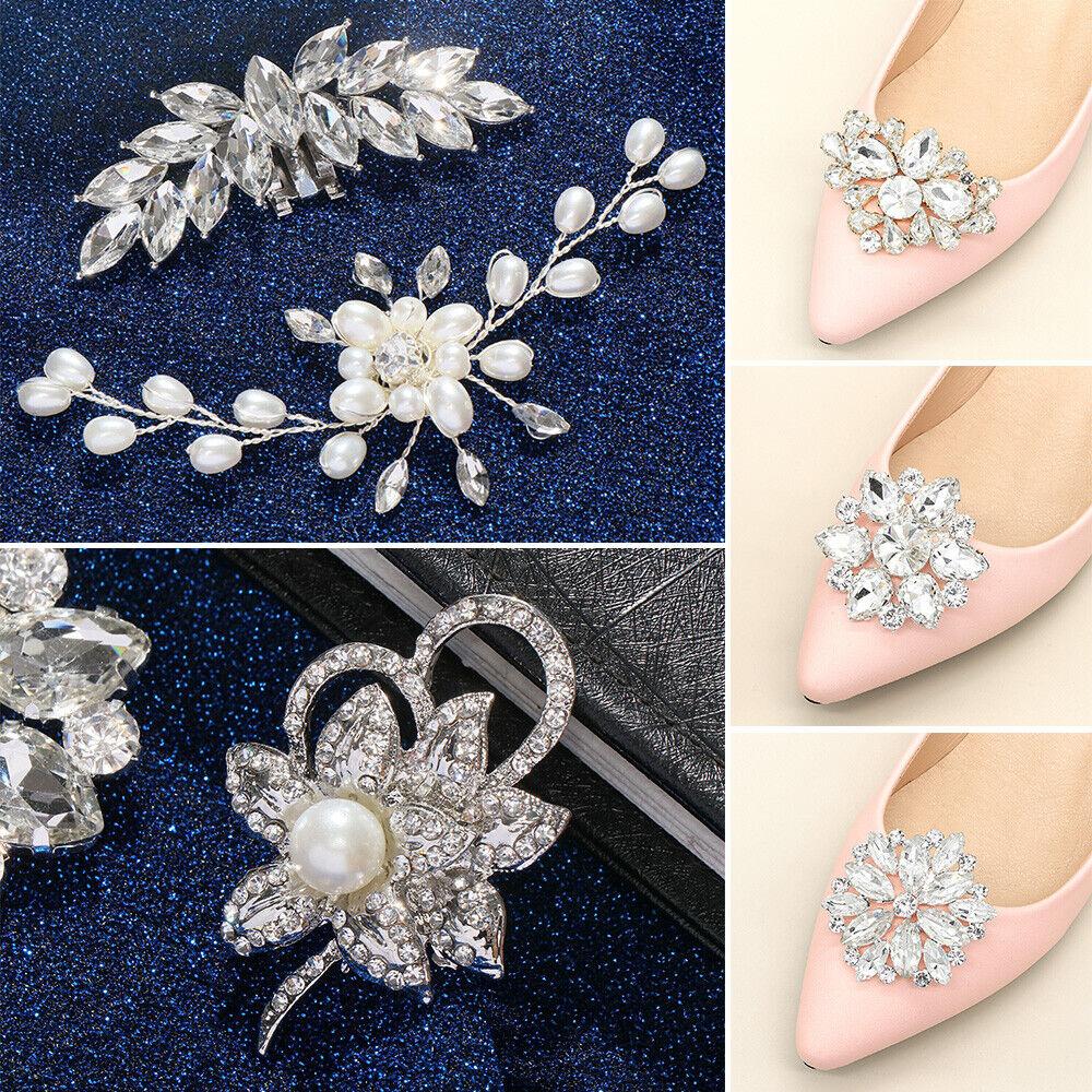 Clamp Wedding Shoe Clip Charm Buckle Shoe Decorations Shiny Decorative Clips