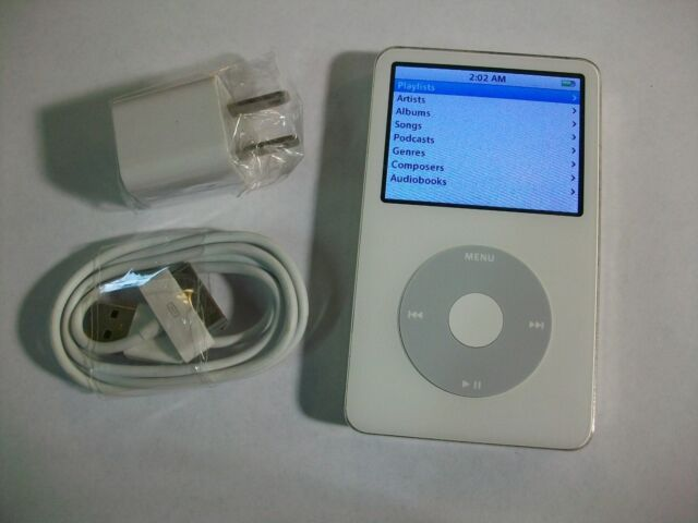 GOOD!!! Apple iPod Classic 5th Generation (30 GB) White MP3 Music Player A1136