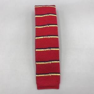 Vintage-Stafford-Square-Cotton-Tie-Striped-Necktie-2-034-1980-039-s