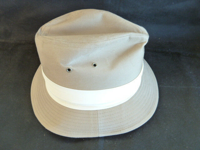 Dorfman-Pacific Dorfman-Pacific Dorfman-Pacific Khaki Canvas Hat Oakland CA  Sm f96857