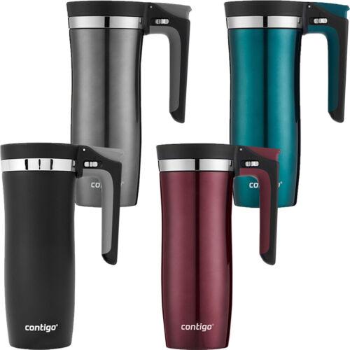 Contigo 16 oz Autoseal Vacuum-Insulated Stainless Steel Handled Travel Mug