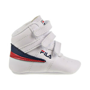 13 Infants' Baby Shoes White-Navy-Red