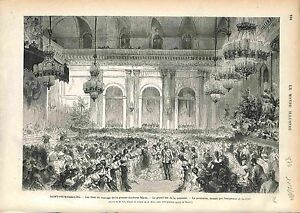 Polonaise-Dance-Danse-Saint-Petersburg-Alexander-II-RUSSIA-GRAVURE-1874