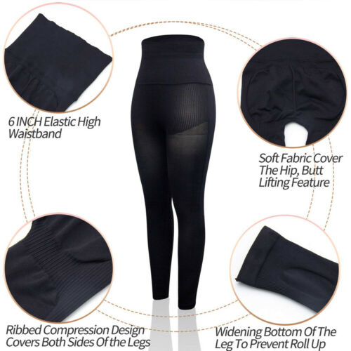 US Women/'s Ultra Soft High Waisted Premium Shaping Leggings Compression Garments