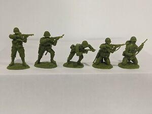 Conte-WWII-U-S-GI-039-S-Bloody-Omaha-5-Figures-Light-Medium-Green-Color-1-32-E