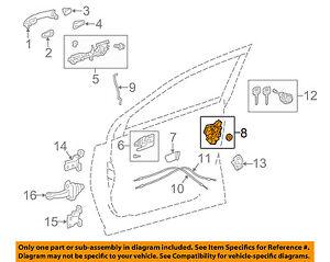 2002 toyota prius front door lock actuator diagram free wiringtoyota oem front door lock actuator motor 6904042250 ebay rh ebay com