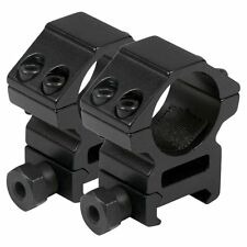 "2PCS Medium Profile 25.4mm 1"" Scope Rings 20mm Picatinny Weaver Rail Mount USA"