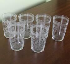 Set of 6 Charming Liquor Large Glass