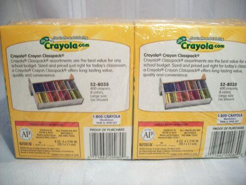 8 CRAYONS PER BOX, NON TOXIC #52-0080 CRAYOLA LARGE CRAYONS 12 EA BXS
