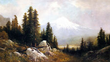 Morning on Mount Shasta  by Frederick F Schafer   Giclee Canvas Print Repro