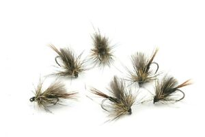 Black-Scruffy-CDC-Sedges-Barbless-Hooks-Trout-Grayling-Dry-Flies-Fly-Fishing