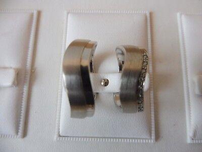 VertrauenswüRdig Edles Paar Ringe ( Partnerringe ,trauringe...)__925 Silber__mit Steinen__neu !