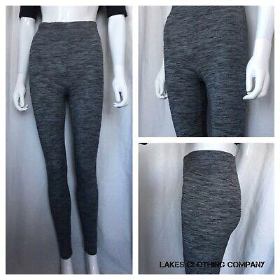 BNWT Ladies Leggings M/&S size 10 Regular Grey Mix High Rise Free P/&p