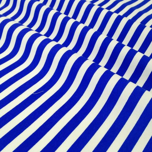 fat trimestre tissu rayé 100/% popeline de coton 12 couleurs Par mètre moitié