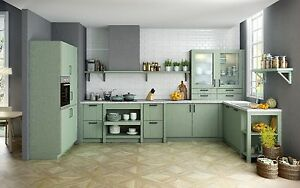Schüller Küche Domus Seidenglanzlack Salbeigrün | eBay