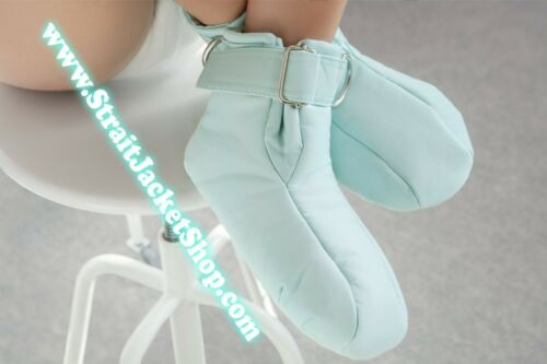Mint Soft Padded ABDL Restraining Booties Available with Segufix Locks