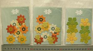 SPECIAL-Flat-Flowers-GREEN-SPRING-Range-2-4cm-3-Asst-Pack-Choice-GTD1GreenTara
