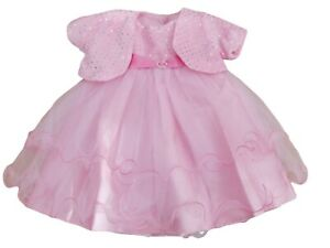 Neuf Avec Etiquette Bebe Fille Fete Occasion Speciale Rose Voile Froufrou Robe Ebay