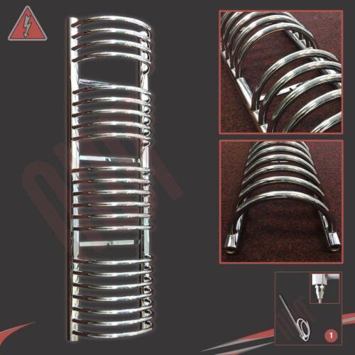 """x 1600mm 600W 300mm W /""""BUCKLEY/"""" Designer Cromato Elettrico Riscaldato Portasciugamani H"""