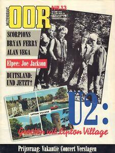 MAGAZINE-OOR-1982-nr-13-U2-amp-VIRGIN-PRUNES-BRYAN-FERRY-SCORPIONS-ALAN-VEGA