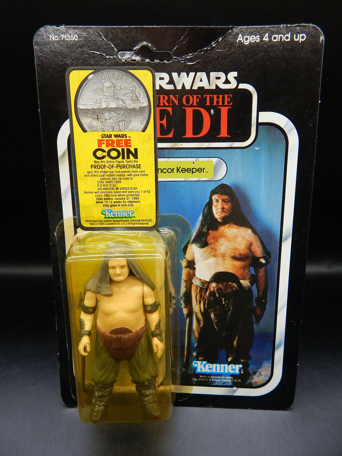 Comme neuf on voitured  Vintage rancor keeper Kenner Star Wars Power of the Force coin mail offre 77 dos non perforé  meilleurs prix