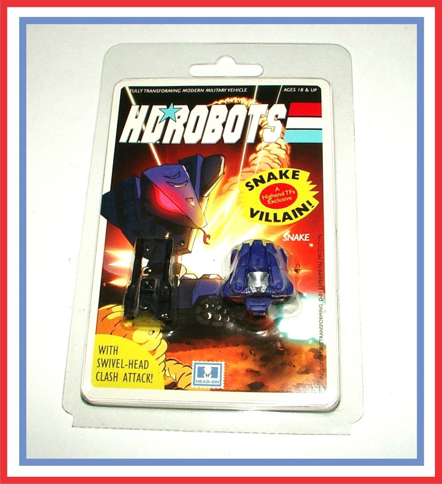 HD/ Head Robots (GI Joe vs Transformers) Headmasters _ Snake _  MOSC