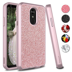 For-LG-Stylo-4-4-Plus-Case-Bling-Glitter-Shockproof-Hybrid-Hard-TPU-Rubber-Cover