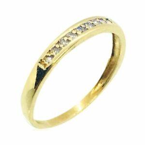 Bague-or-jaune-18k-9-diamants-demi-alliance-americaine