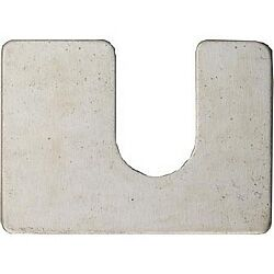 """50 pack Steel Body Shims 11//6/"""" Thick Zinc Plated 11//4X13//4 1//2 slot"""