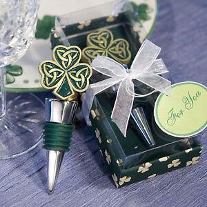 Image Is Loading Shamrock Trinity Love Knot Wine Bottle Stopper Wedding