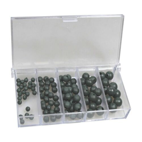 100 Behr Gummi-Perlen Sortiment inklusive Dose Stopperperle Soft Beads 4244769