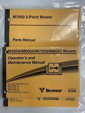 Vermeer M7050 3 Point Mower Parts Manual Amp Operators And Maintenance Manual Set