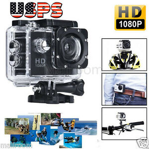 "2"" Ultra HD 1080P SJ5000 Waterproof Sports Camera DV Action Video DVR Helmet US"