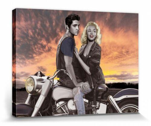80x60cm Abendrot Poster Leinwand-Druck Marylin Monroe #69341